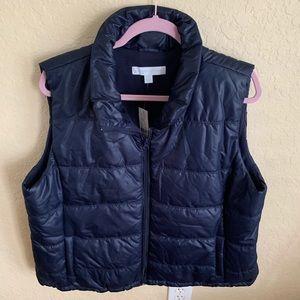 New York &Co. navy blue vest, NWT, size XXL